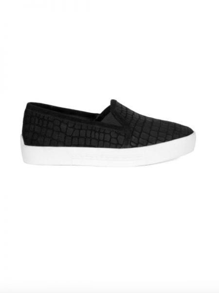 Joie Huxley Black Croc Sneaker