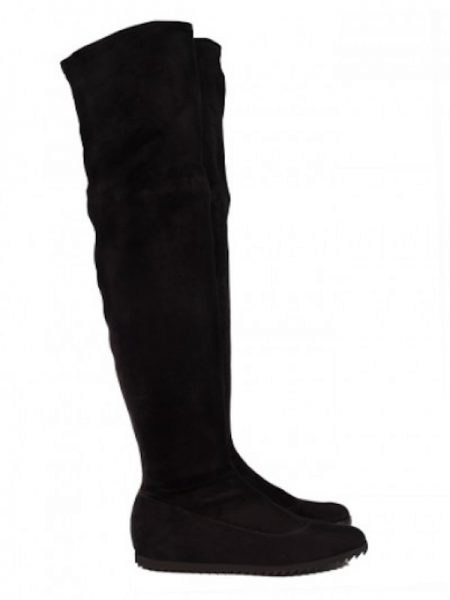 Pedro Garcia Yule Black Stretch Over the Knee Boot