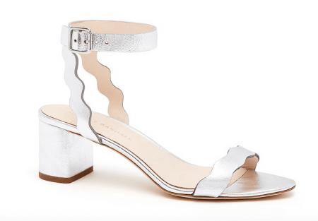 Loefler Randall Emi – GT Silver Block Heel Sandal
