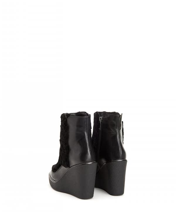 violett aquatalia bottine Noir  calf bottine aquatalia tlins chaussures 0232a3