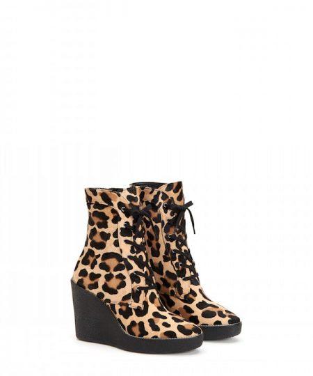 Aquatalia Viviann Leopard Lace Up Bootie